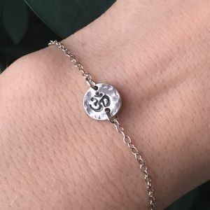 sterling silver om yoga bracelet 🕉